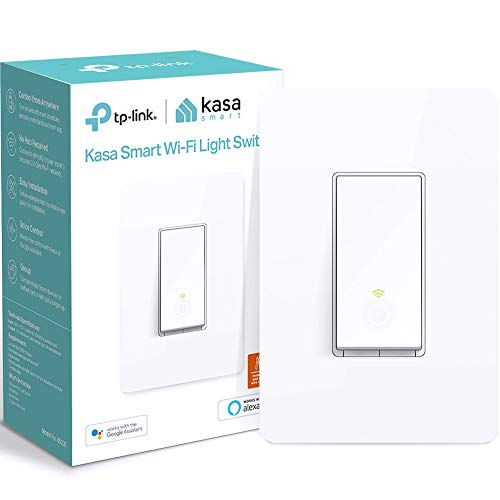 Kasa Smart (HS200) Light Switch by TP-Link, Single Pole, Needs Neutral Wire, 2.4Ghz WiFi Light Switch Works with Alexa and Google Assistant, UL Certified, 1-Pack, White