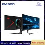 IPASON Gaming Monitor QR302W 30-inch 2K Highly Refresh Rate 200hz Display Widescreen with PS4 e-sports Desktop