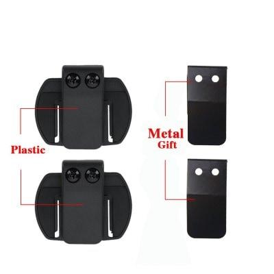 V6 V4 Motorcycle BT bluetooth Interphone headset helmet intercom V6 Clip Metal Bracket 2pcs