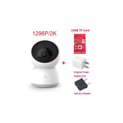 Smart Camera Webcam 2K 1296P 1080P HD WiFi Night Vision 360 Angle Video IP Cam Baby Security Monitor for Mi home APP