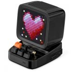 Retro Pixel Art Bluetooth Portable Speaker Alarm Clock DIY LED Screen By APP Electronic Gadget Gift Home decoration