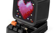 Retro Pixel Art Bluetooth Portable Speaker Alarm Clock DIY LED Screen By APP Electronic Gadget Gift Home decoration