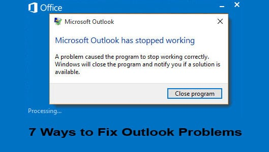 outlook is not responding