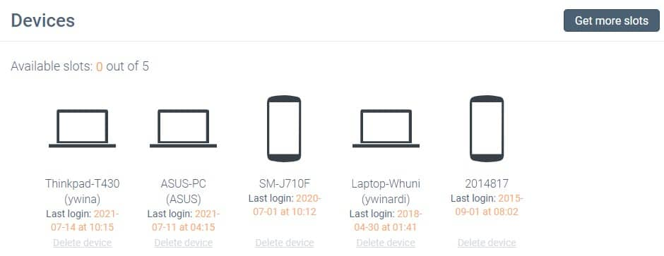 manage devices using unlimited vpn