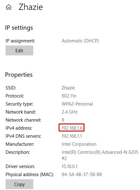 windows 10 network